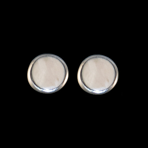 Round Mammoth Sterling Silver Cup Earring
