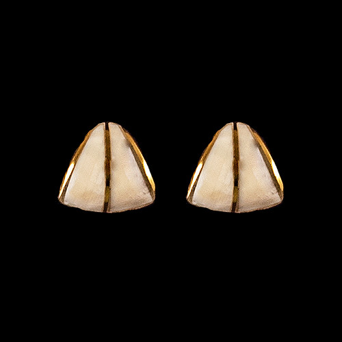 Teardrop Mammoth Ivory with 14K Gold Bar Earring