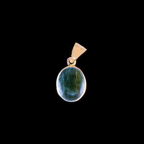 PJ-1022-G Small Round Jade 14K Gold Pendant | F&F Inc.