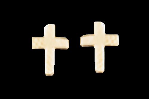Small  Mammoth Cross Earrings