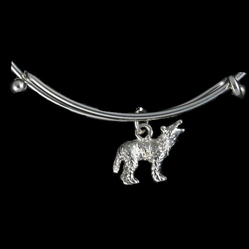 Wolf Silver Charm