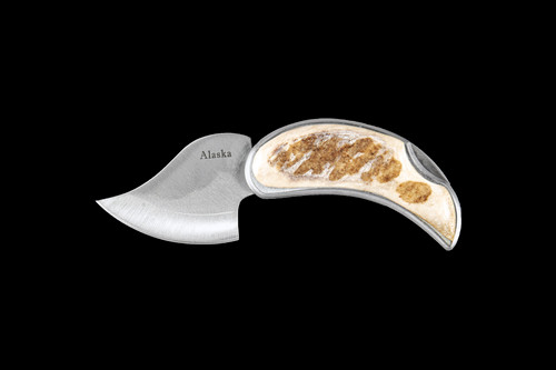 Moose Antler Pocket Ulu Closed