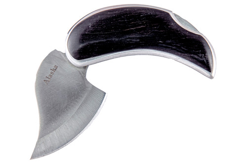 Ebony Pocket Ulu Opened