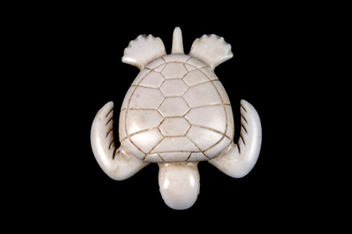 """This is a unique hand carved eco-ivory Medium Turtle Statue. The dimensions of the Medium Turtle Statue are 1.93"""" x 0.47"""" x 2.10"""". The SKU is C-61.  This detailed Medium Turtle Statue will make a great addition to any room in the house. You can place it on any flat surface to display, or a great gift for children to have.  All statues are hand carved in clay. We then make a mold of the original piece before producing them into the final acrylic resin product with an antique finish."""