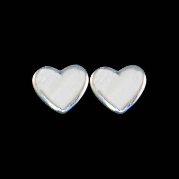 Small Heart Mammoth Sterling Silver Cup Earring