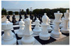 Giant Chess 64cm Set (Pieces only) (GC641) shown outdoors on board