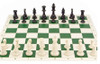 Box Tournament Chess Set 95mm SINGLE Weighted Pieces with ROLL UP Board