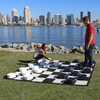 Flexible Rubberized Vinyl 2.8m Giant Chess & Checkers Board for 64cm Giant Chess (GM-13andGM-13ser) with checkers