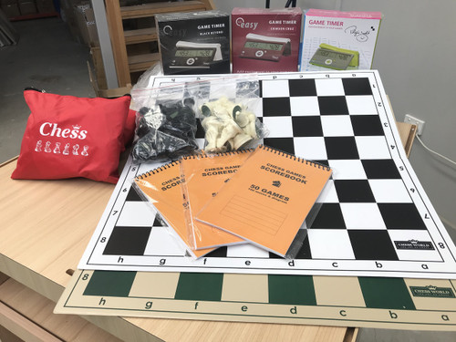 Folding Tournament Set with Double Weighted Pieces, DGTE & Score Book