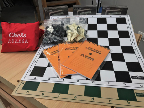 Folding Tournament Set with Double Weighted Pieces, DGT1002 & Score Book