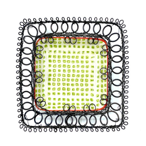Wire Framed Ceramic Wall Hanging