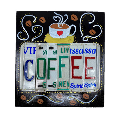 COFFEE License Plate Plaque