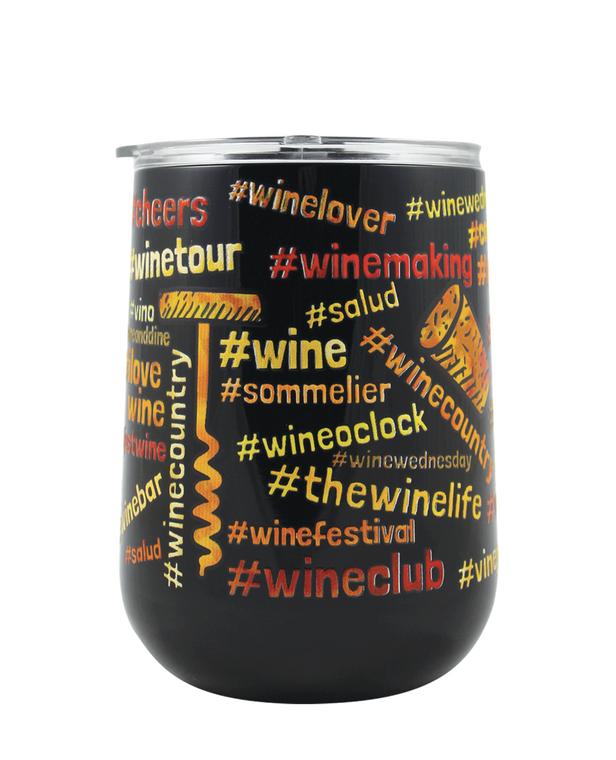 #Wine Lover 18 oz Curved Tumbler