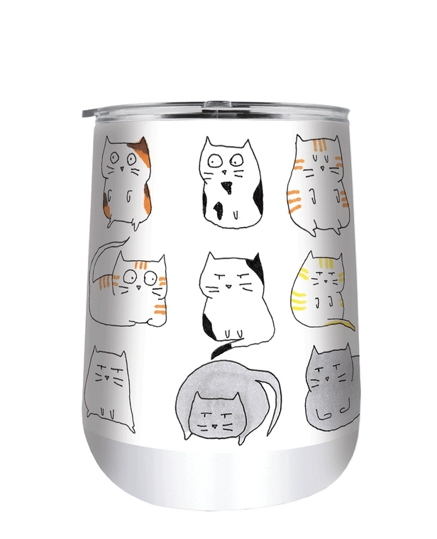 Moodi Cats 18 oz Curved Tumbler