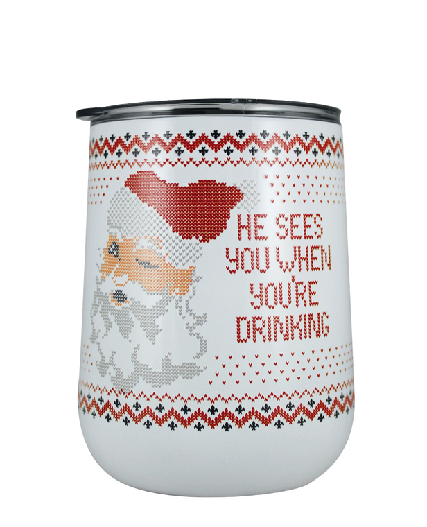 He Sees You 18 oz Curved Tumbler