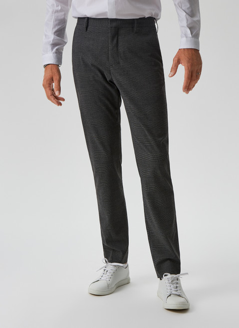 CHINO TROUSERS WITH PRINCE OF WALES CHECK