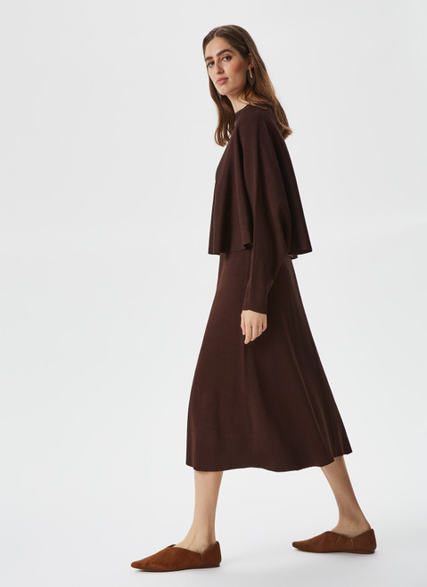 CROPPED KNITTED CAPE