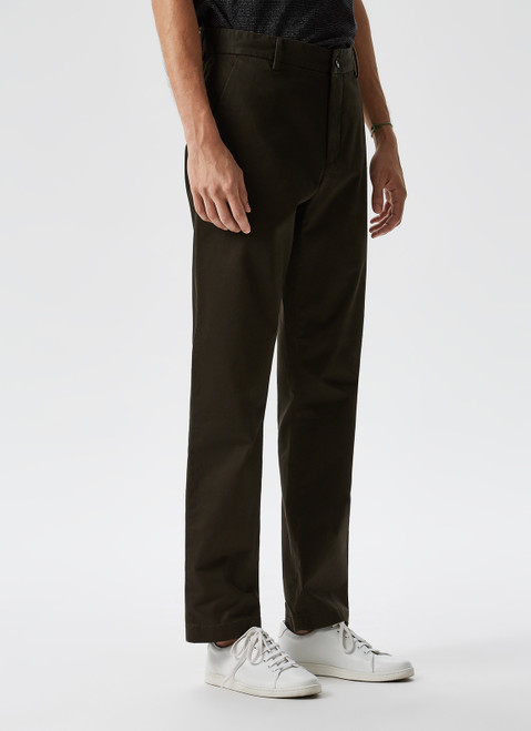 ELASTIC GARMENT-DYED CHINO TROUSERS