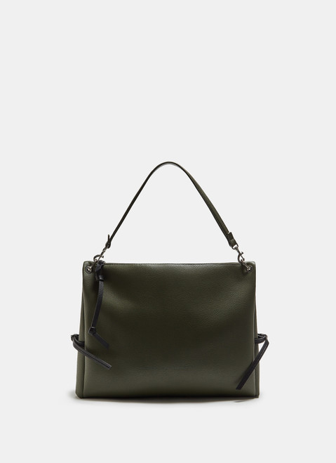 Green Hobo Bag With Personalised Puller