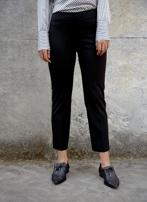 High-Rise Fitted Trousers