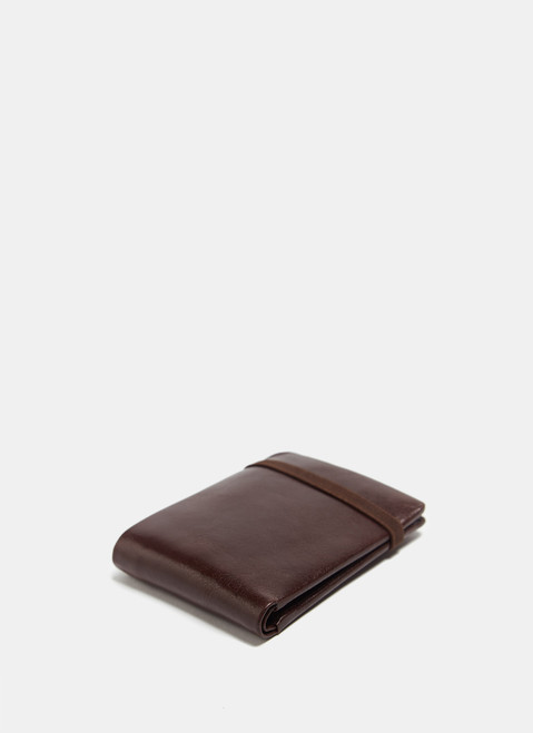 Leather Wallet With Elastic Closure