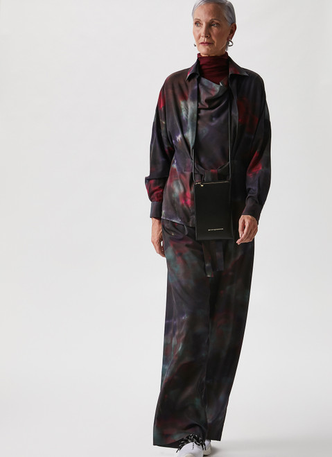 MULTICOLOR TROUSERS WITH TIE-DYE PRINT
