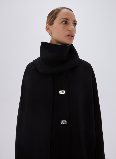 Black Coat With Metal Buttons