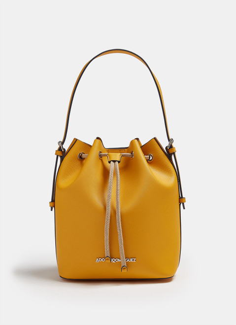 Yellow Eco Saffiano Backpack