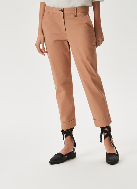Camel Chino Elasticc Trousers