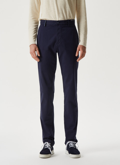 Navy Blue Chino Stretch Trousers