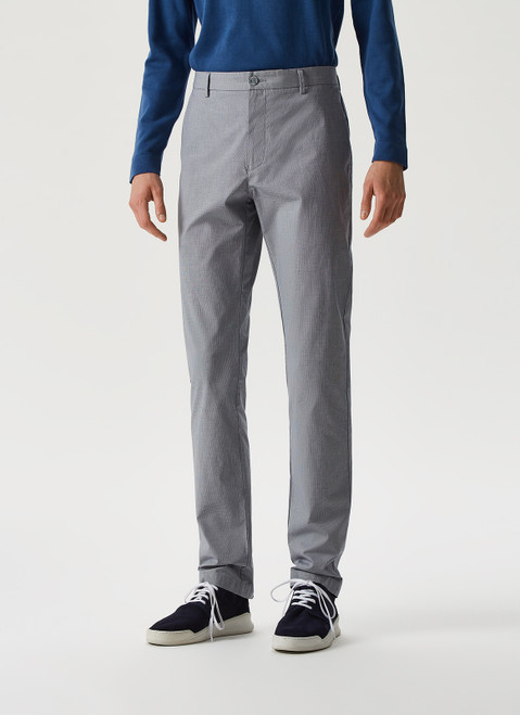 NAVY BLUE/WHITE SPECKLED STRETCH TROUSERS