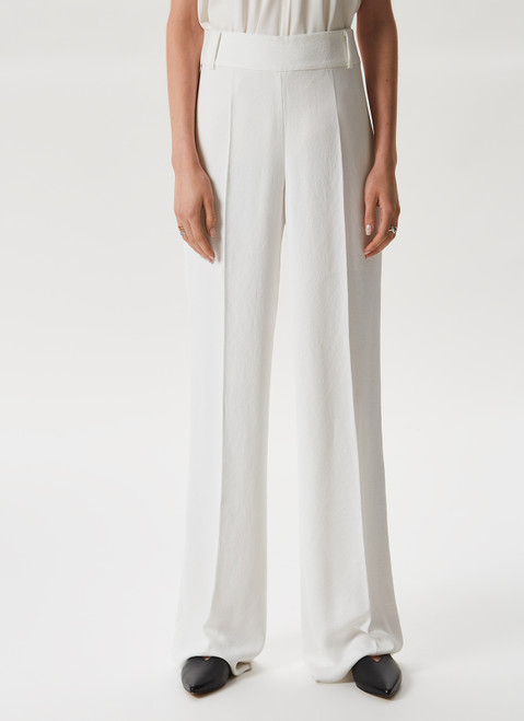 White Iria Trousers With Matching Jacket