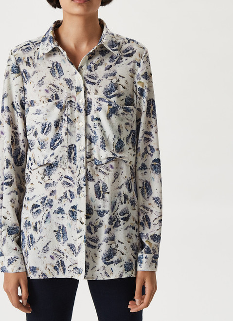 Multicolor Long Sleeve Shirt With Area Print