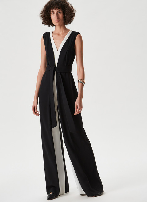 Black And White Jumpsuit With Be