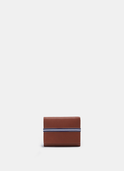 Brown Leather Wallet With Elasticc Closure