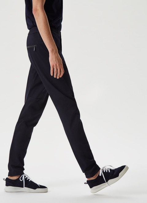 NAVY BLUE TECHNICAL JOGGER-STYLE TROUSERS