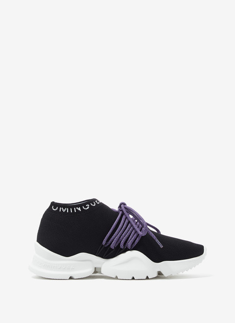 BLACK SOCK-STYLE SNEAKERS WITH SIDE LOGO