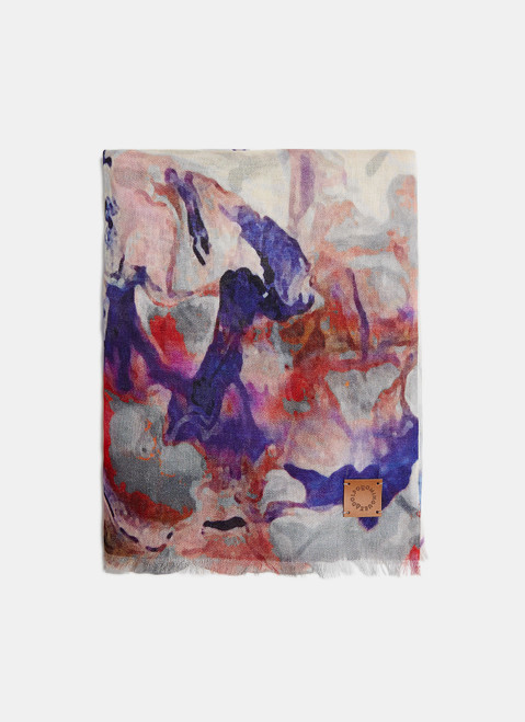 Multicolor Modal Scarf With Floral Print