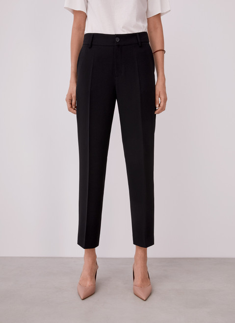 Black Straight Ankle Trousers