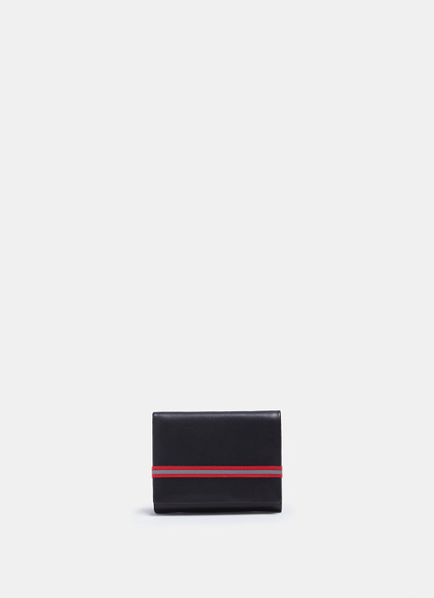 Black Leather Wallet With Elasticc Closure