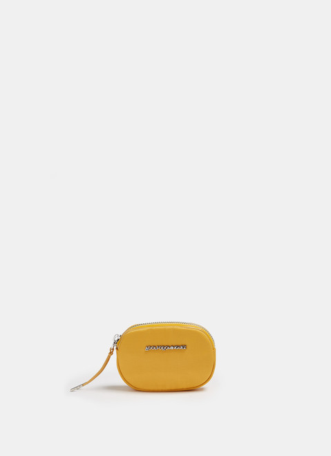 YELLOW TECHNICAL NYLON ROUNDED COIN PURSE