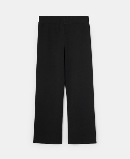 Black Rib Knitted Trousers