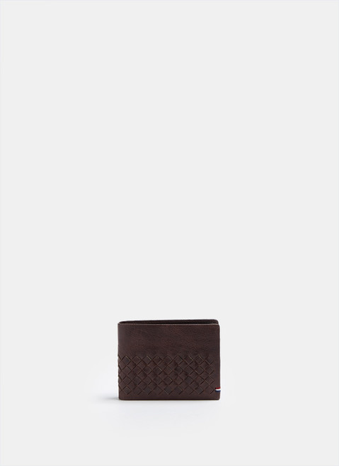 Brown Aged Leather Horizontal Wallet