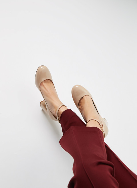 Nude Spazzolato Leather Shoes