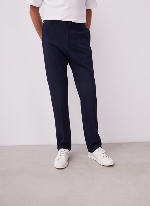 BLUE TWILL CHINO TROUSERS