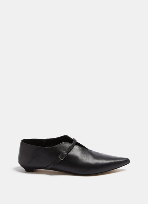 Pointy Black Leather Shoes