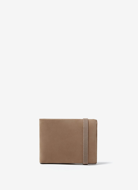 Stone Leather Wallet With Elastic Band