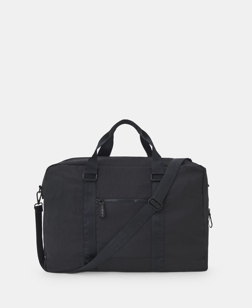 Grey Weekender With Logo And Double Handle