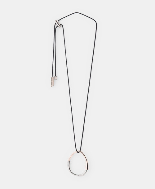 Silver/gold Glossy Double Ring Necklace