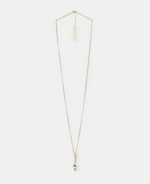 Gold Golden Artificial Pearl Necklace